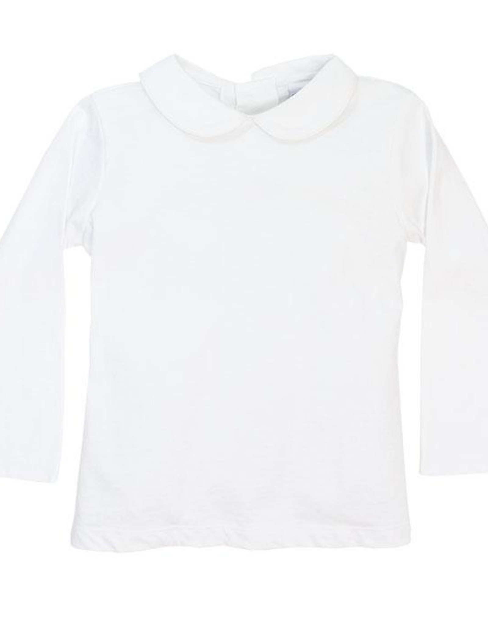 The Bailey Boys White Knit Unisex Piped Shirt
