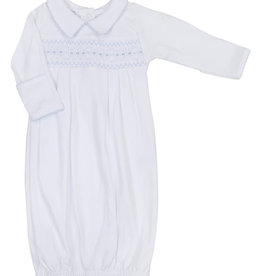 Magnolia Baby Becky and Ben's Classics Smocked Collared Pleated Gown