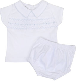Magnolia Baby Becky and Ben's Smocked Collared Boy Diaper Set