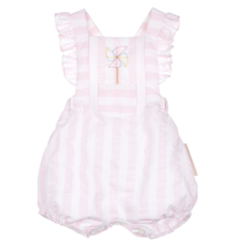 Sophie & Lucas Pink Sunny Stripe Overall