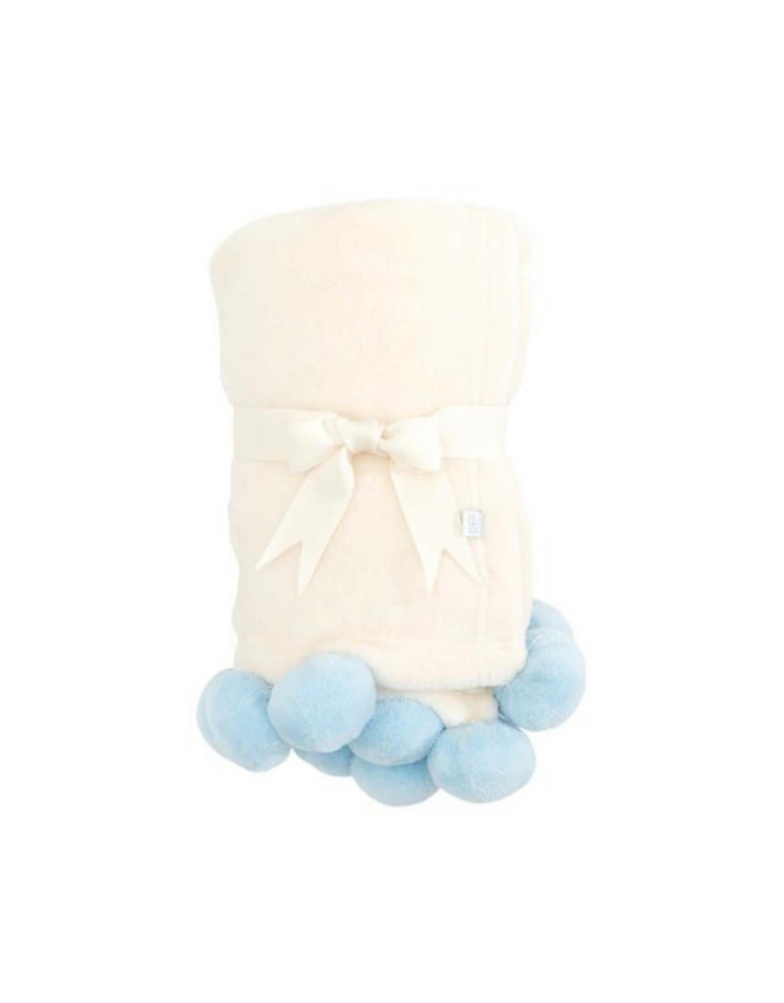 Elegant Baby Blanket With Poms