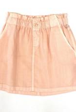 Bella Dahl Girl Coral Elastic Waist Skirt With Button