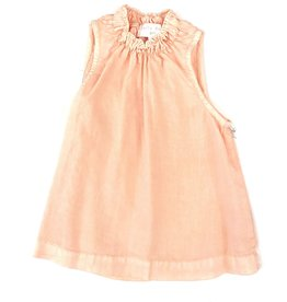 Bella Dahl Girl Shirring Neck Sleeveless Shell-Soft Coral
