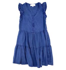 Bella Dahl Girl Evening Blue Button Front Dress
