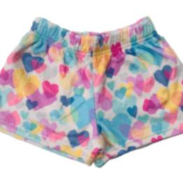 Iscream Pastel Hearts Plush Shorts