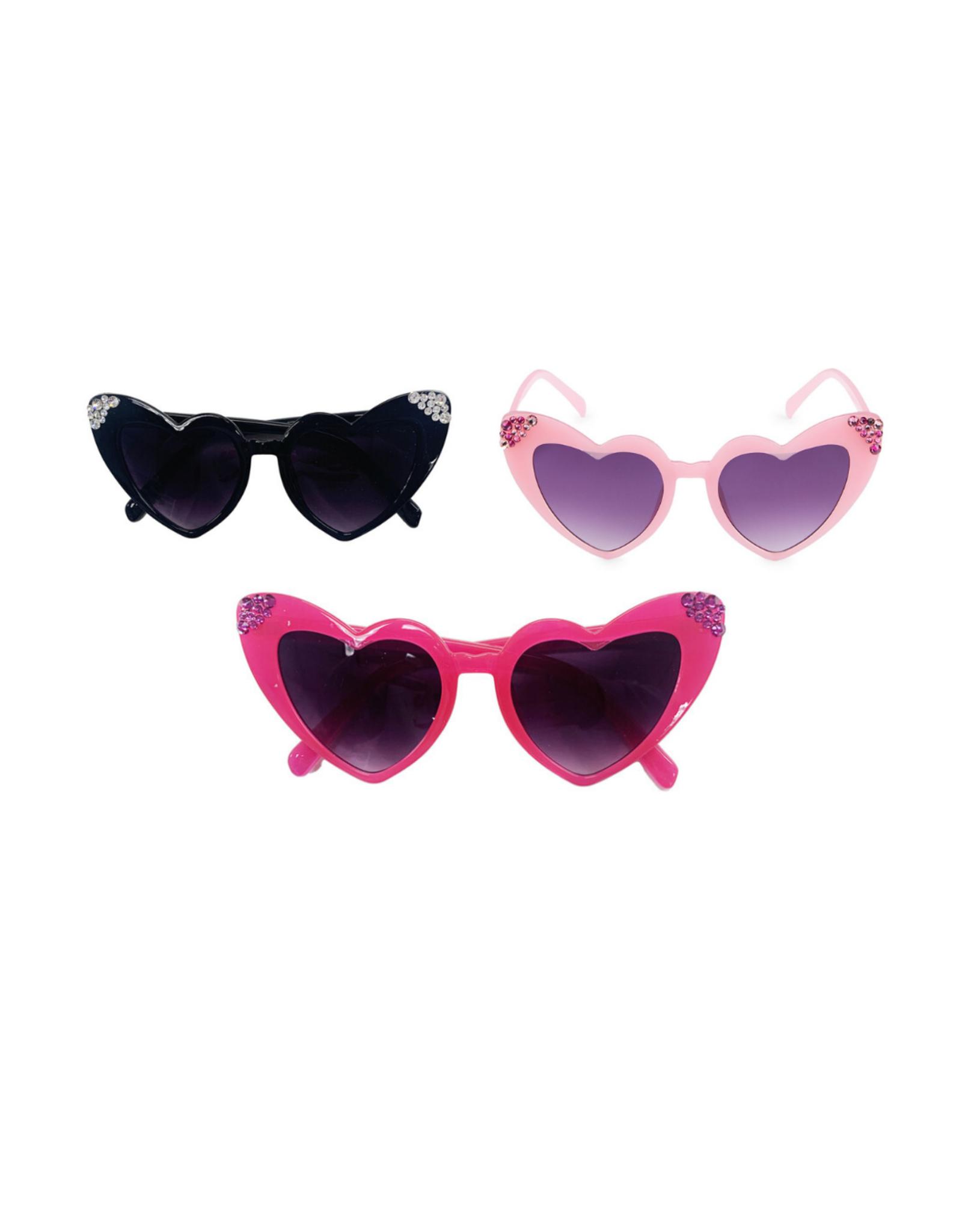 Bari Lynn Crystallized Heart Sunglasses