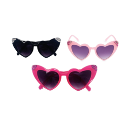 Bari Lynn Crystallized Heart Sunglasses