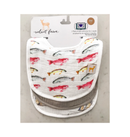 Velvet Fawn Monday Special / Eat More Seafood Bib Set