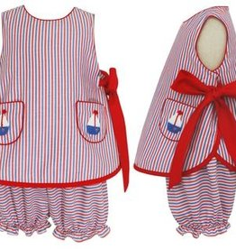 Claire and Charlie Sailboat Sleeveless Bloomer Set
