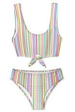 Stella Cove Super Striped Tie Chest Bikini