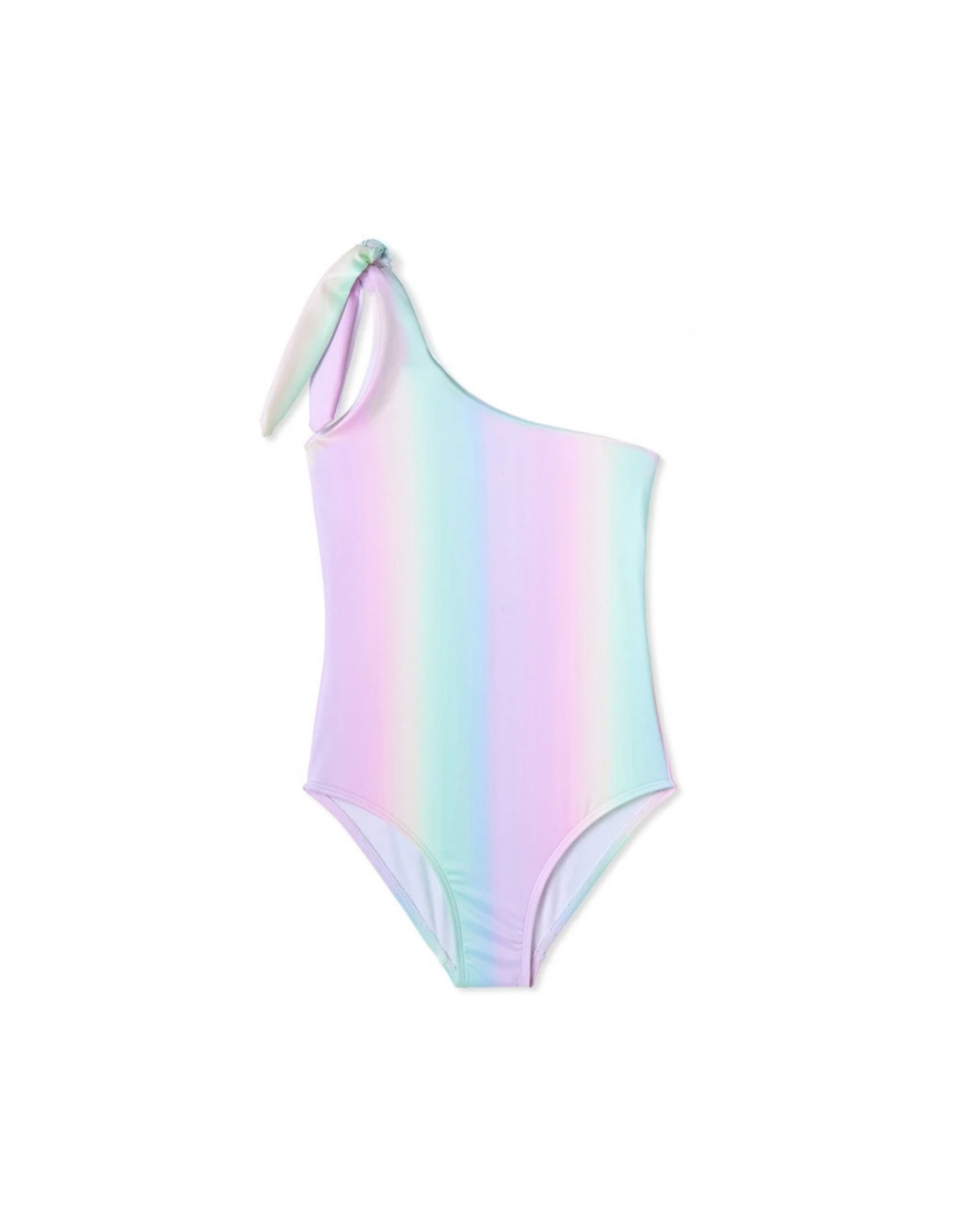 Stella Cove Rainbow One Shoulder Tie Swimsuit