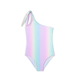 Stella Cove Rainbow One Shoulder Tie Swimsuit