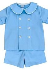 The Bailey Boys Blue Bonnet Dressy Short Set