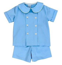 The Bailey Boys Blue Bonnet Dressy Short Set
