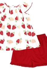 Zuccini Strawberry Shortcake Short Set