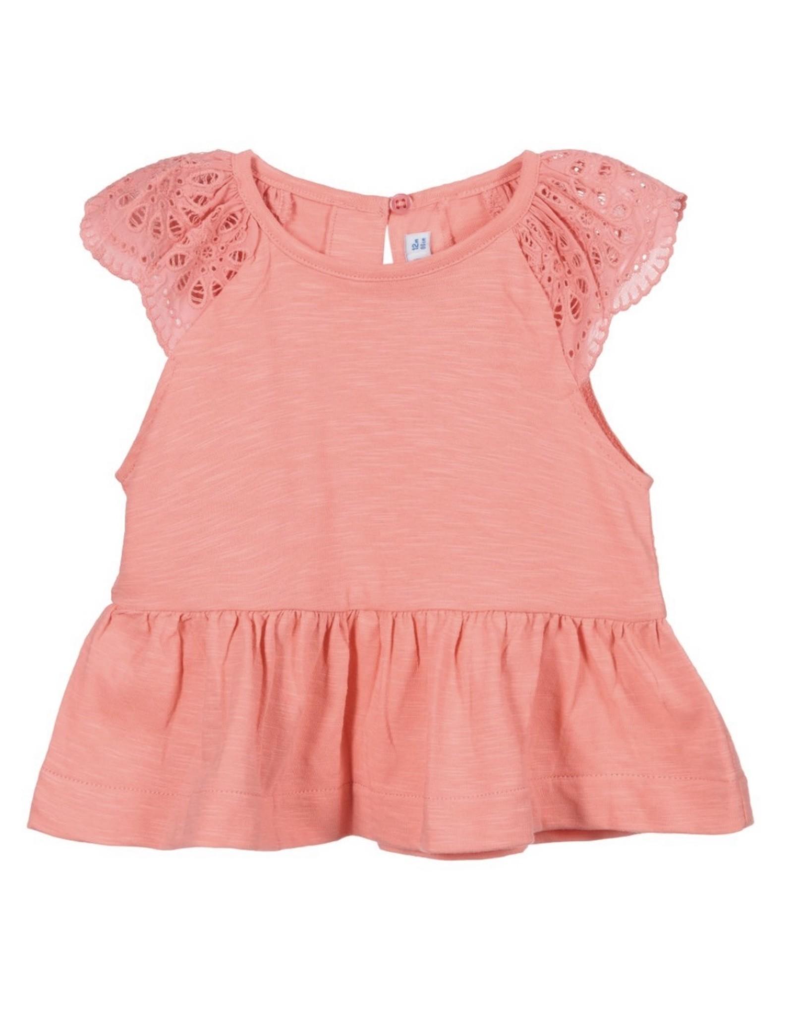 Mayoral Coral Sleeveless T-Shirt Top