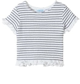 Mayoral White/Black Smocked Top