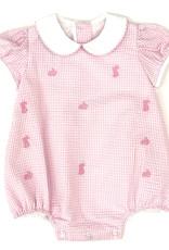 Anavini Light Pink Mini Check Seersucker Bunnies Bubble