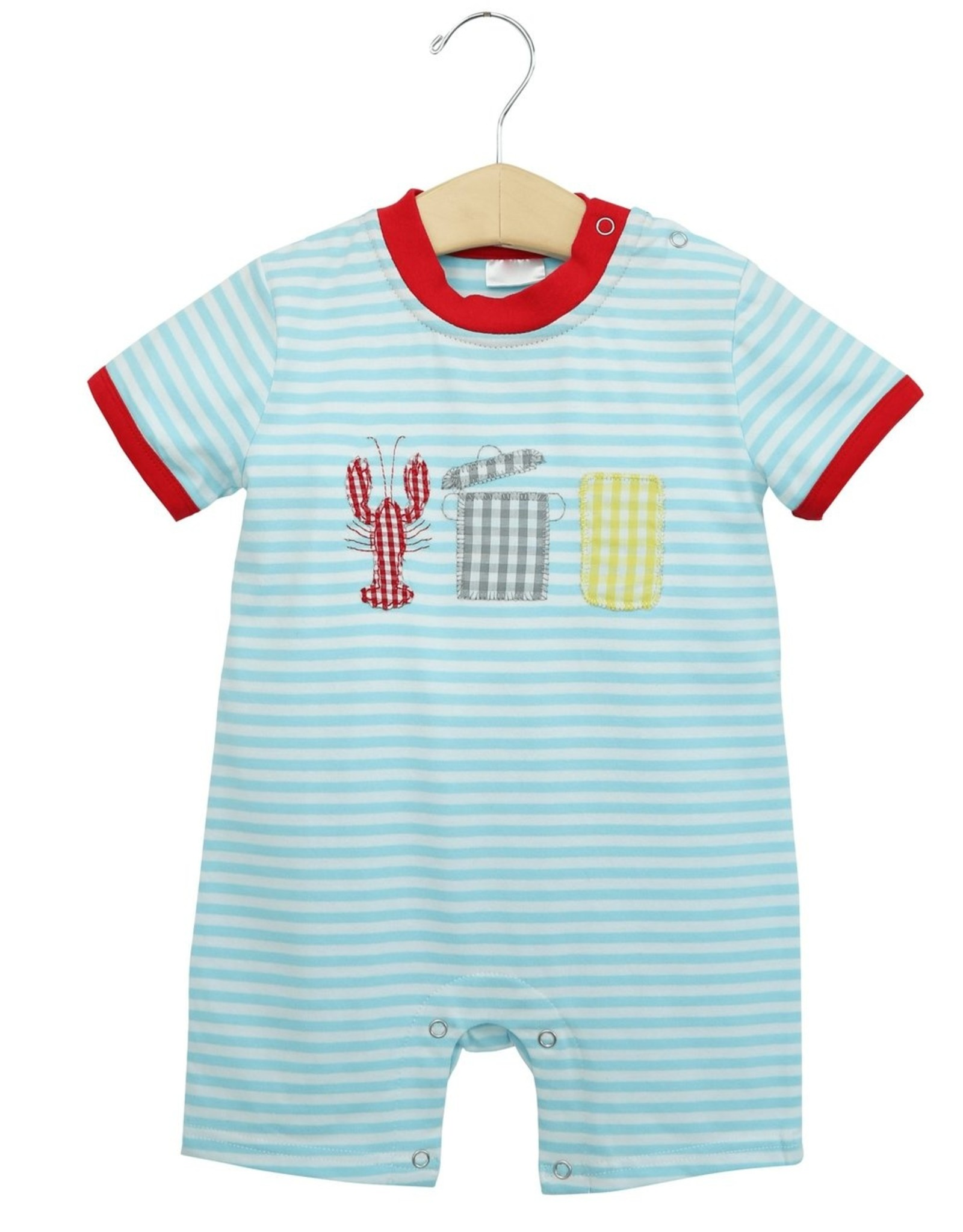 Trotter Street Kids Crawfish Romper Boys