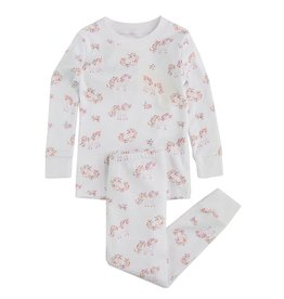 Kissy Kissy White Flower Unicorn Pajama Set