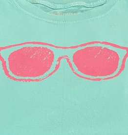 Mustard & ketchup Teal Sunglasses Short Sleeve Tee