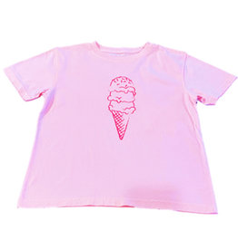 Mustard & ketchup Pink Ice Cream Cone Tee