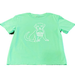 Mustard & ketchup Green Easter Lab Shirt