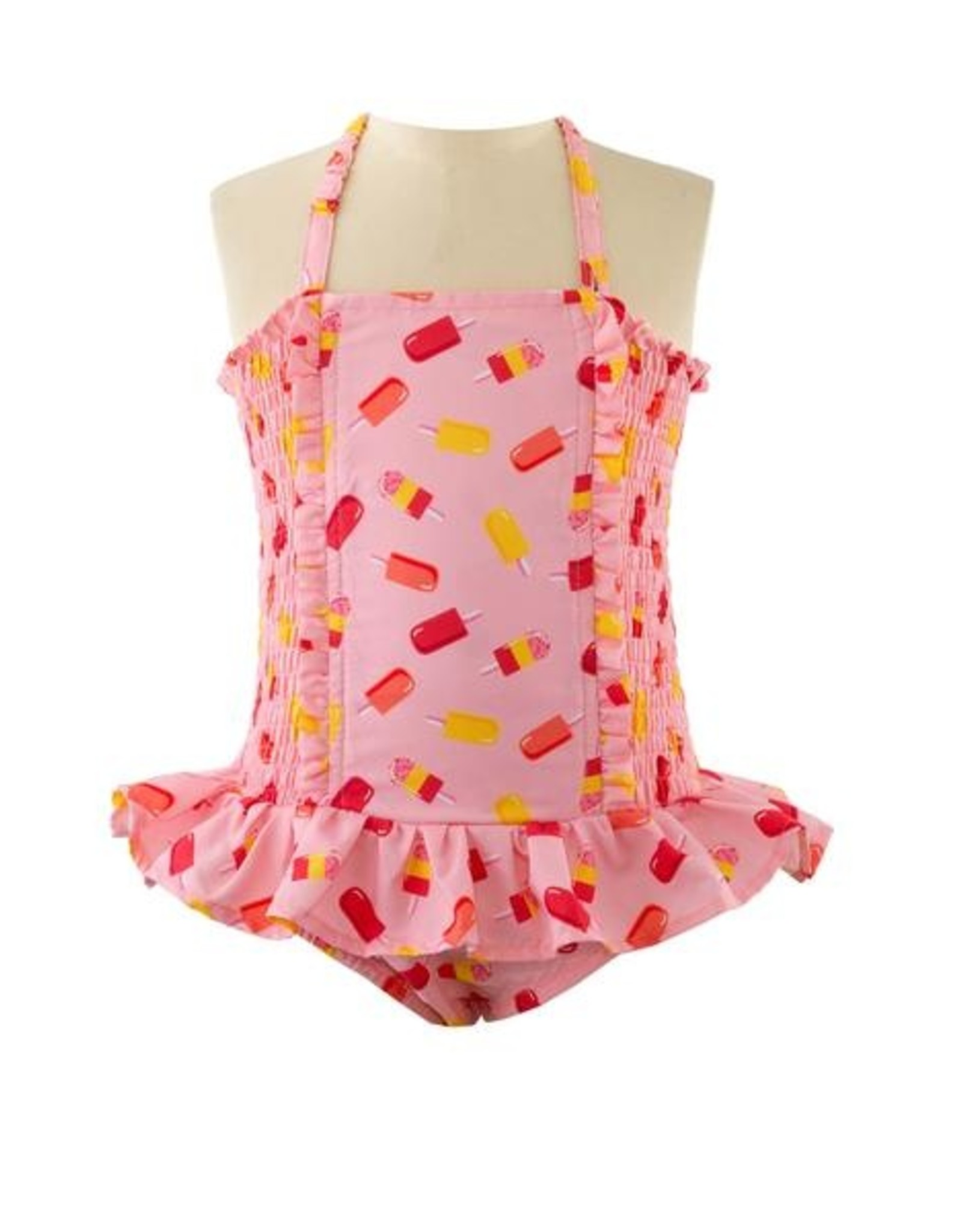Rachel Riley Ice Lolly Ruched Swimsuit