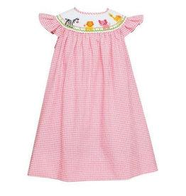 Anavini Pink Animal Parade Angel Wing Dress