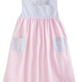 Little English Light Pink Seersucker Madison Sundress