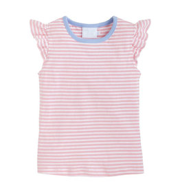 Little English Light Pink Angel Stripe Tank