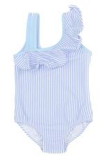 Properly Tied Ally Swimsuit Blue Seersucker