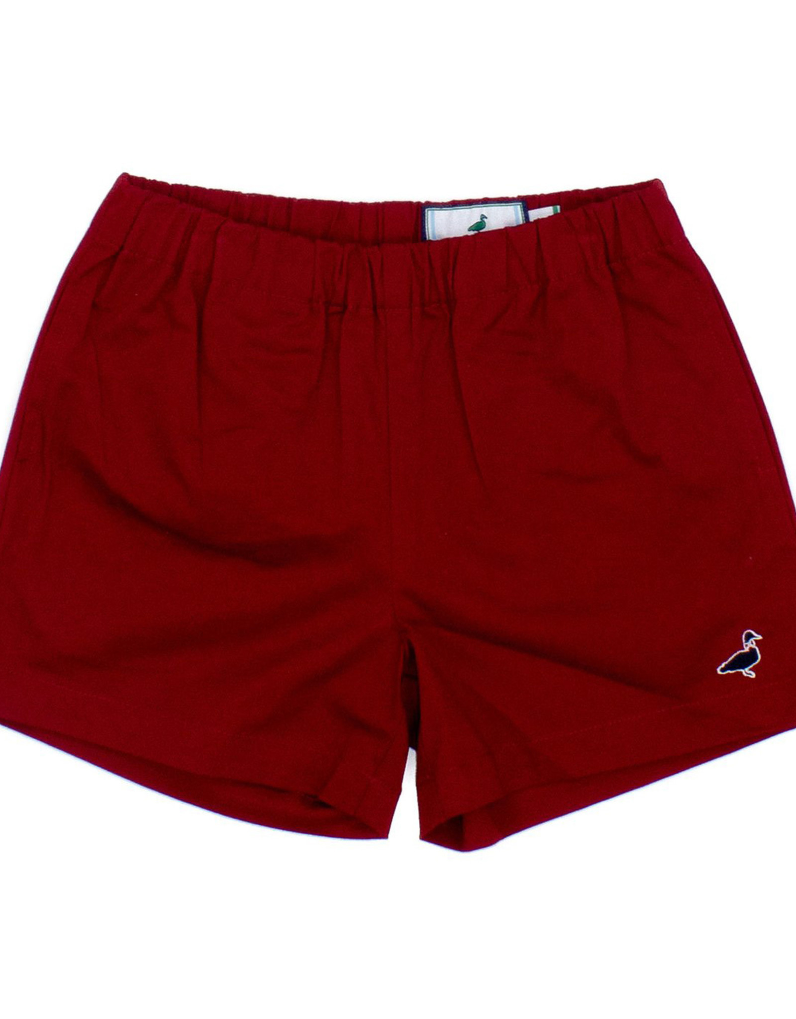 Properly Tied Red Henry Shorts