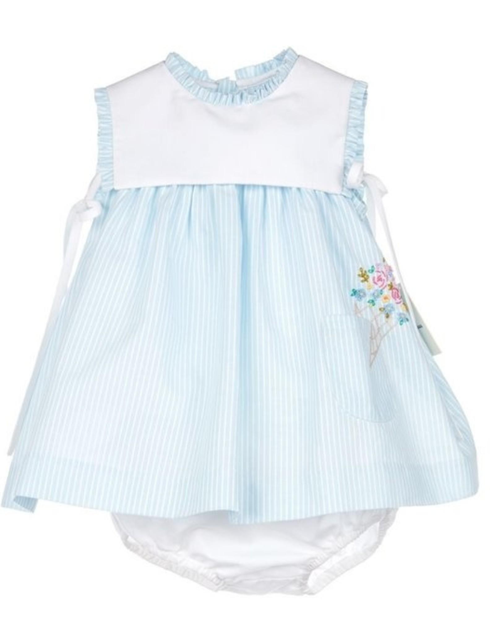 Sophie & Lucas Easton Stripes Dress Blue