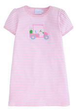 Little English Applique T-Shirt Dress