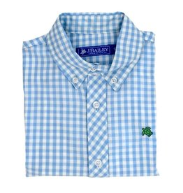 The Bailey Boys Blue Gingham Button Down