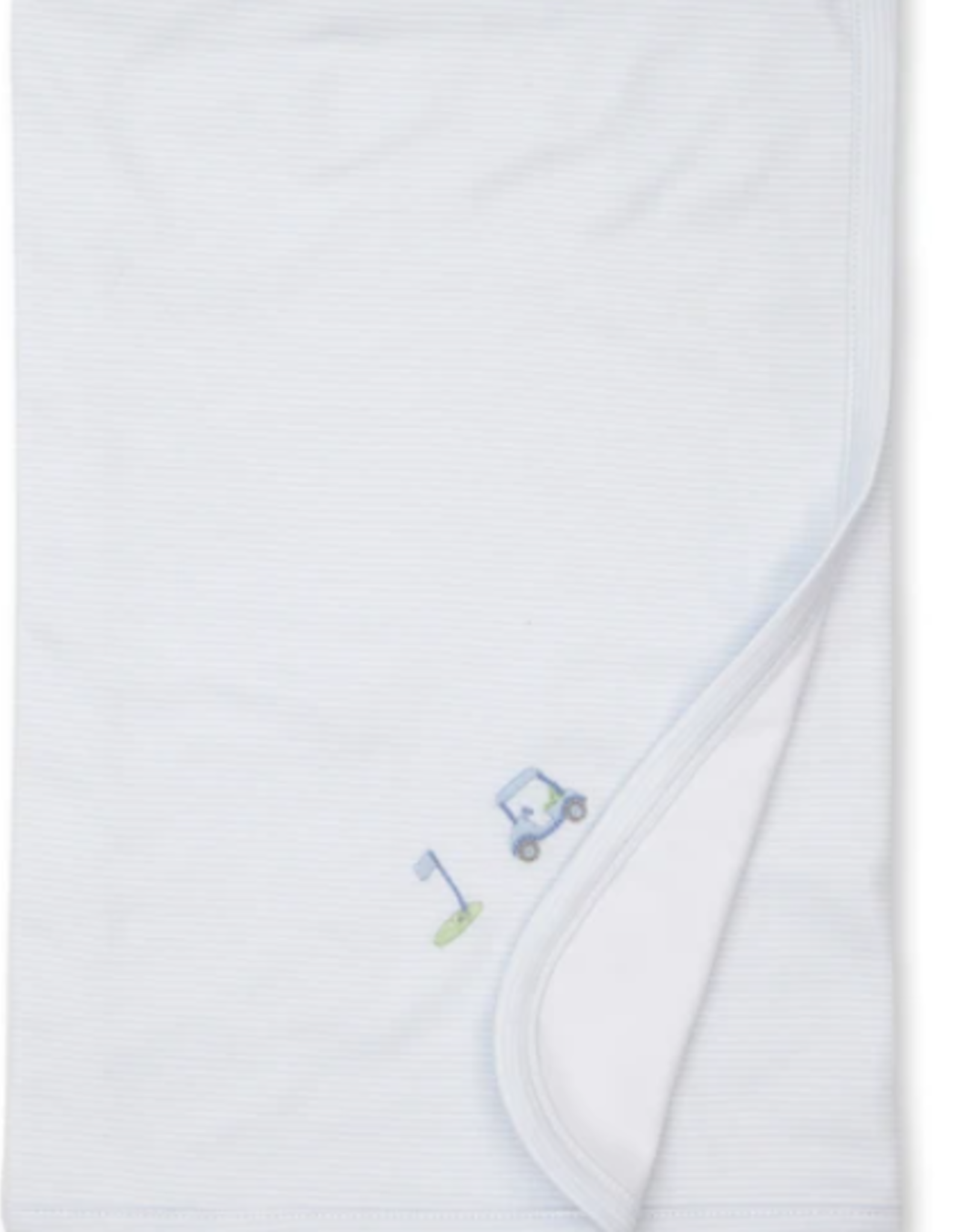 Kissy Kissy Blanket With Embroidered Golf