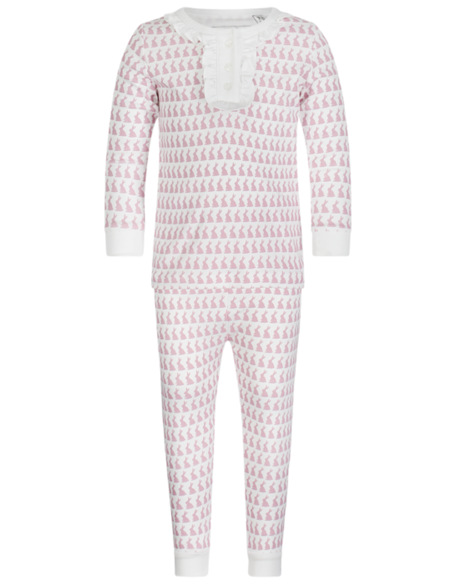 Lila and Hayes Aiden Bunny Love Pink PJ Set