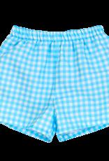 The Bailey Boys Blue Gingham Swim Trunk