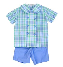 The Bailey Boys Watercolor Plaid Short Set