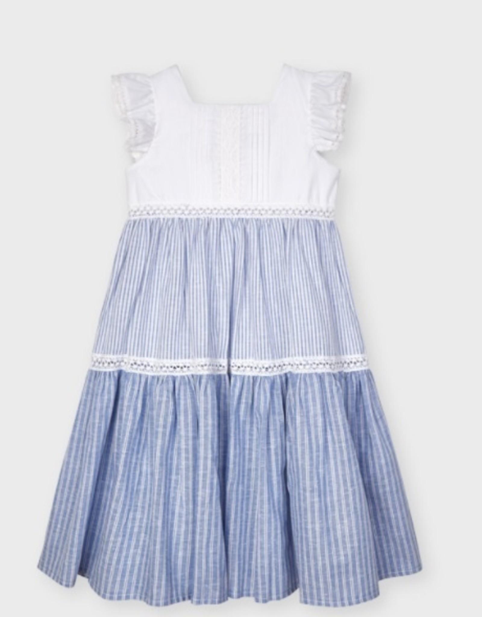 Mayoral Multi Tiered Stripe Dress