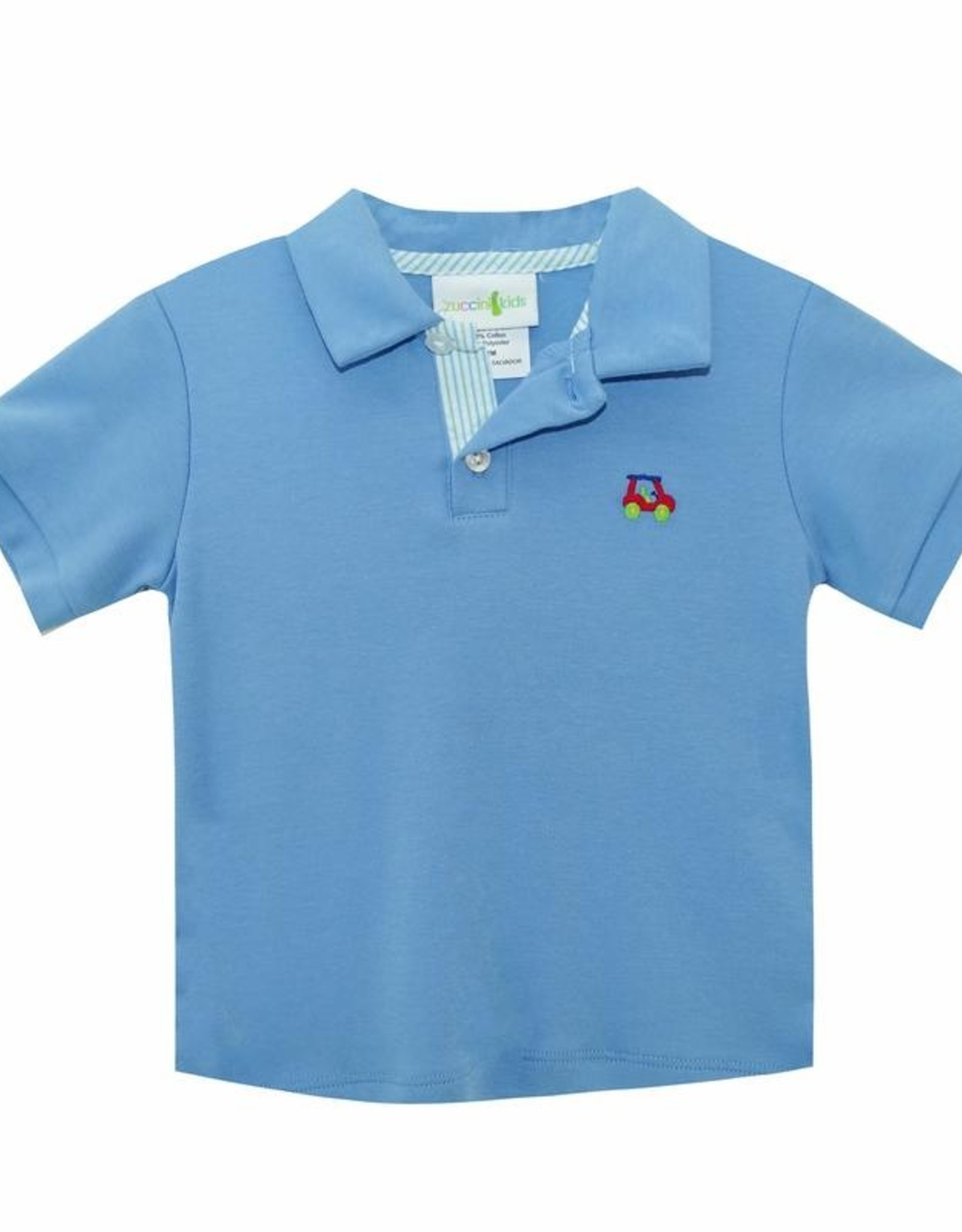 Zuccini Periwinkle Golf Polo And Short Set