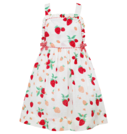 Claire and Charlie Strawberries Cross Back Jumper With Bows
