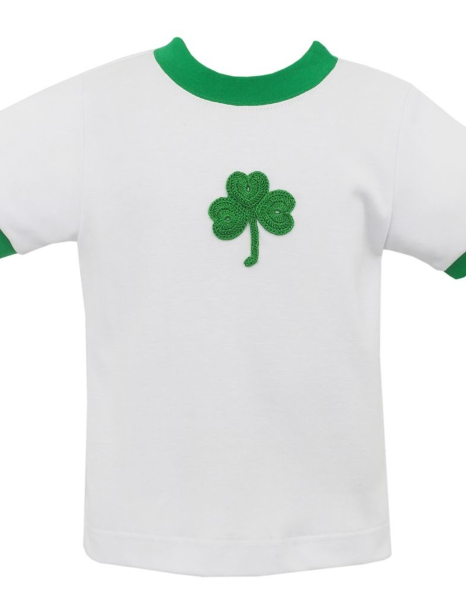 Claire and Charlie Shamrock White T-shirt