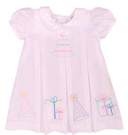 Lulu Bebe LLC Pink Embroidered Birthday Dress