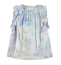 Bella Dahl Girl Iridescent Aqua Petal Edge Shell Top