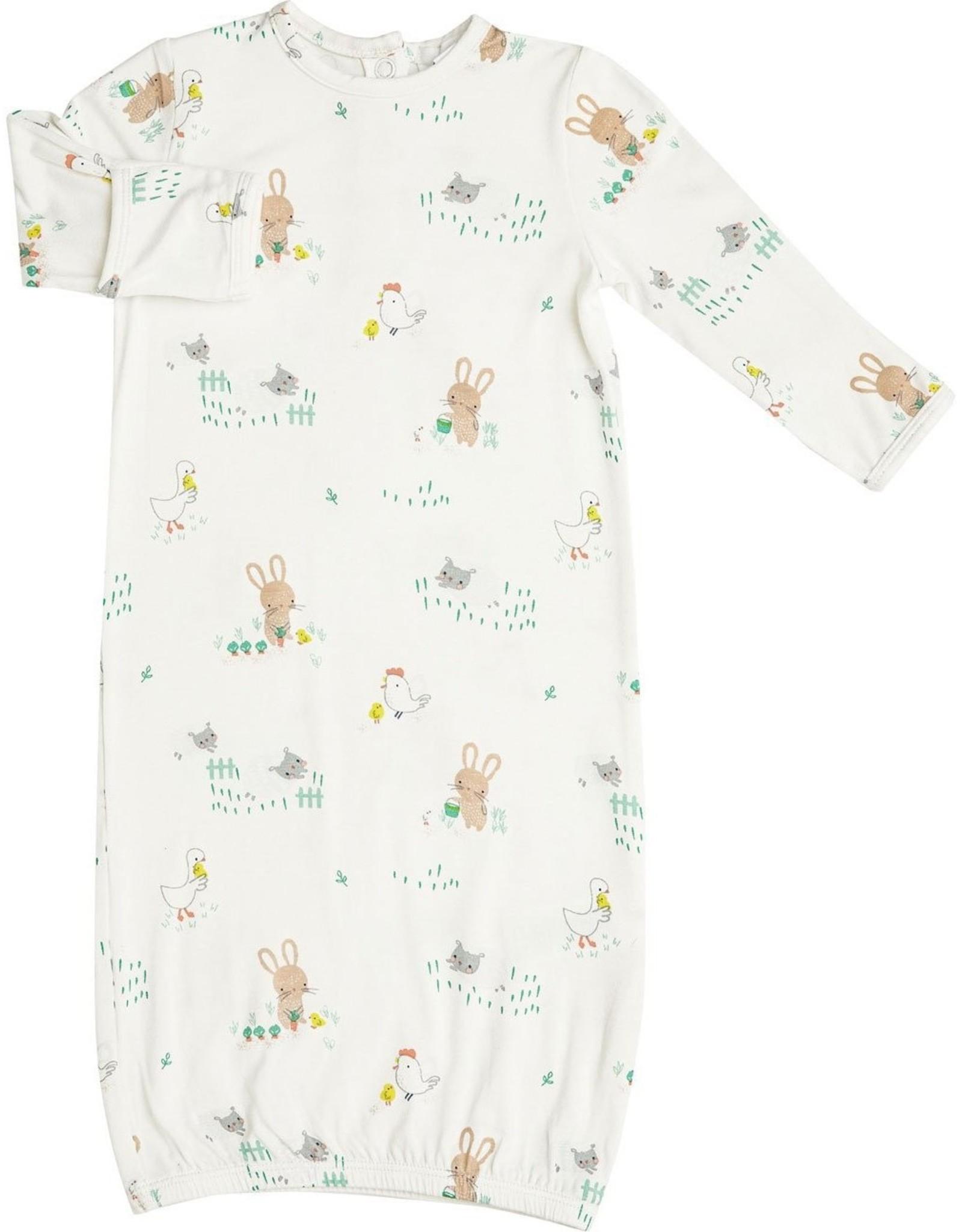 Angel Dear Little Farmer Boy Gown Ivory
