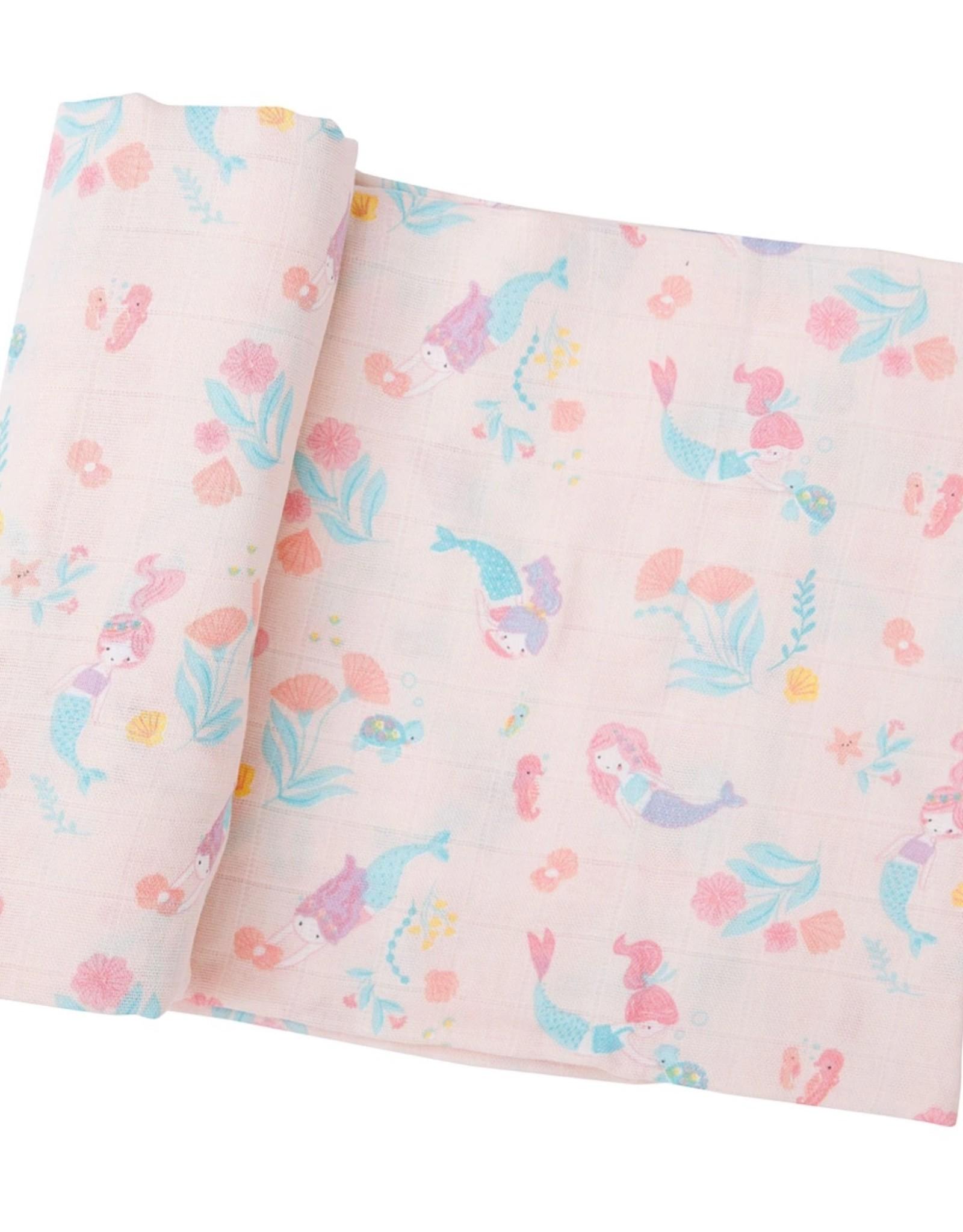 Angel Dear Mermaids Swaddle Blanket Pink
