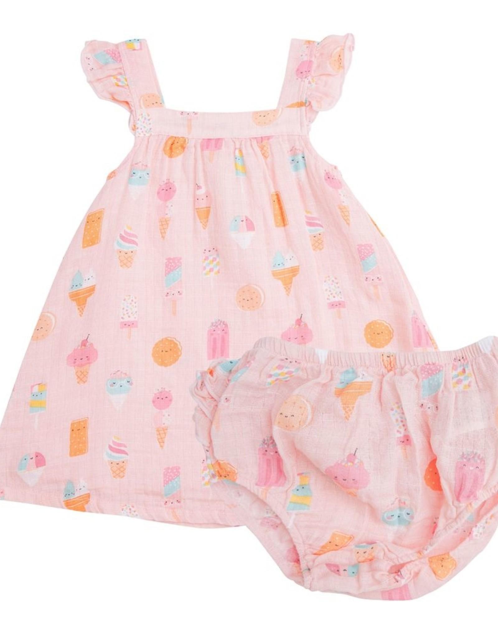 Angel Dear Ice Cream Sundress Pink