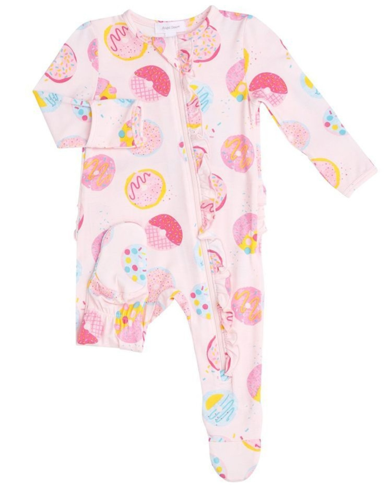 Angel Dear Donuts Ruffle Footie Pink